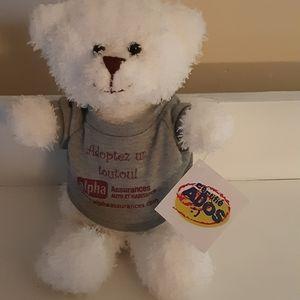 Steven Smith White Teddy Bear Stuffed Animal Plush